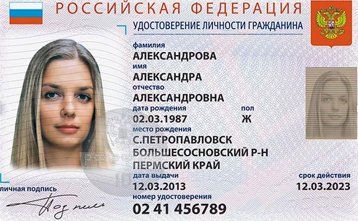 Как выглядит электронный паспорт